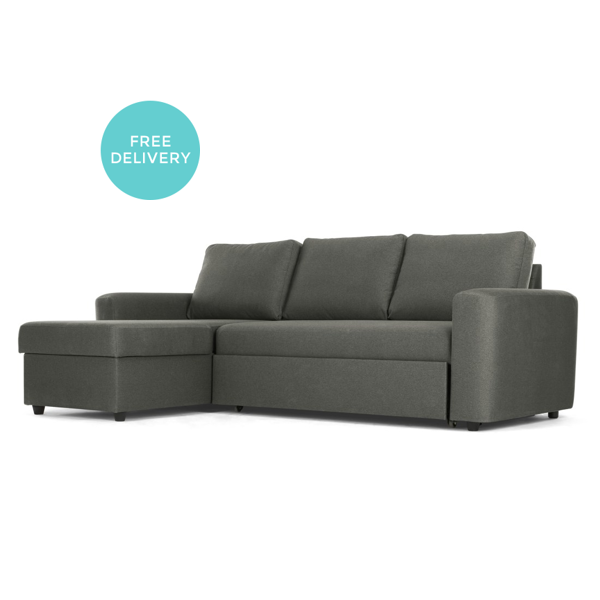 Sofa Bed Next Day Delivery London Diamond Euro Aidian Corner Storage Pigeon Grey Vin Parker Furniture