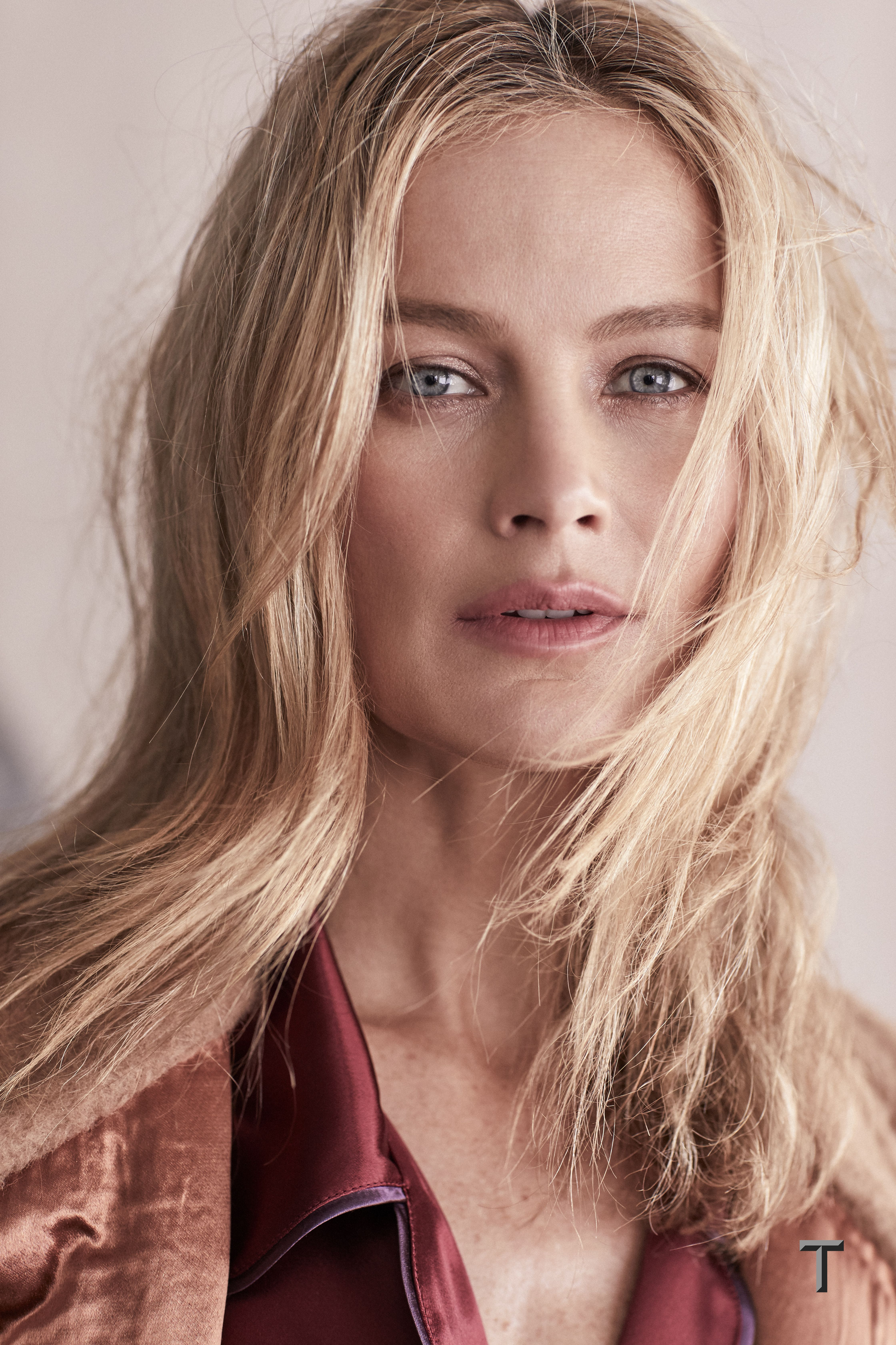 Carolyn Murphy in Fall's easy ensembles for the July issue