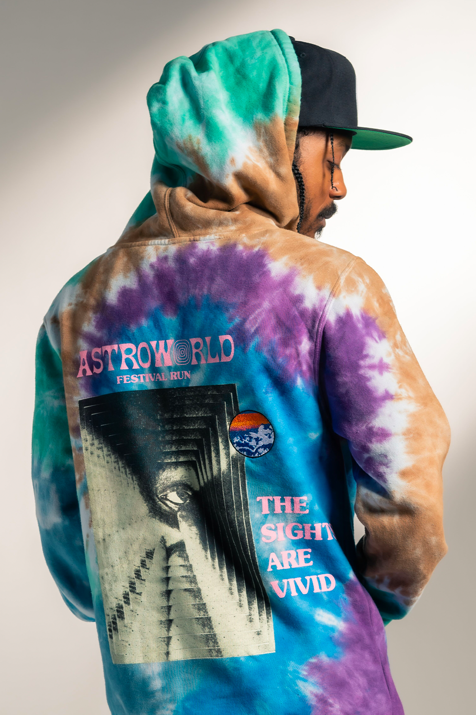 Travis Scott Tie Dye Festival Hood 93665564 Cool Outfits For Men Travis Scott Hoodie Tie Dye Hoodie [ 1500 x 1000 Pixel ]