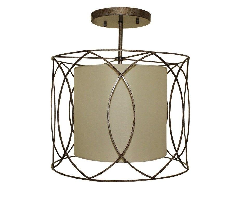 Pisces Wrought Iron Flush Mount Ceiling Light | Light Up My Home - LightUpMyHome.com