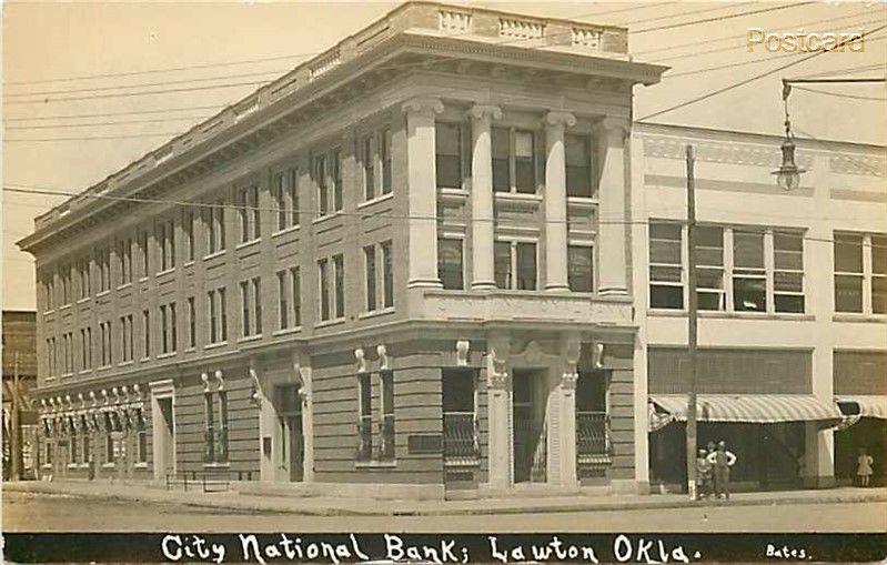 Ok Lawton Oklahoma City National Bank Bates Rppc City National Lawton Oklahoma Lawton