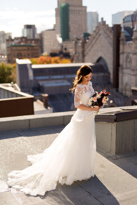 Mariage moderne et urbain au Vieux Montréal