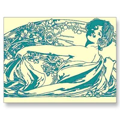 Victorian Lady postcard