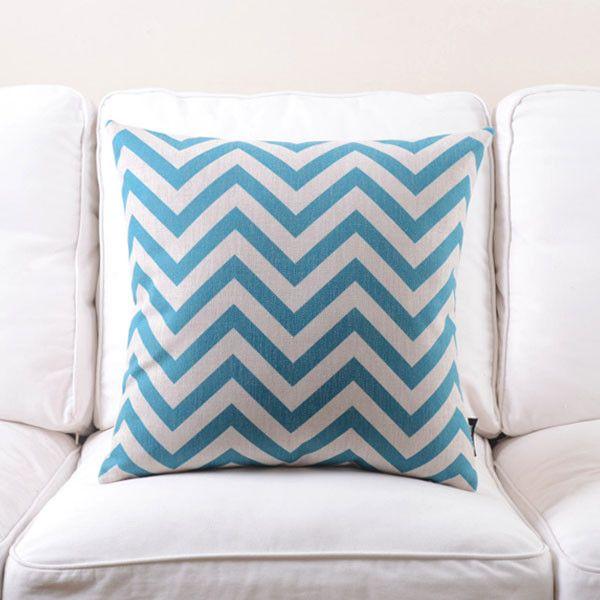 Blue Chevron Pillow Case