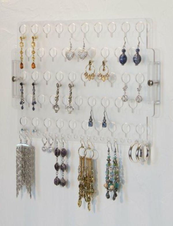 Le porte bijoux mural une d co pratique et belle - Fabriquer porte collier ...