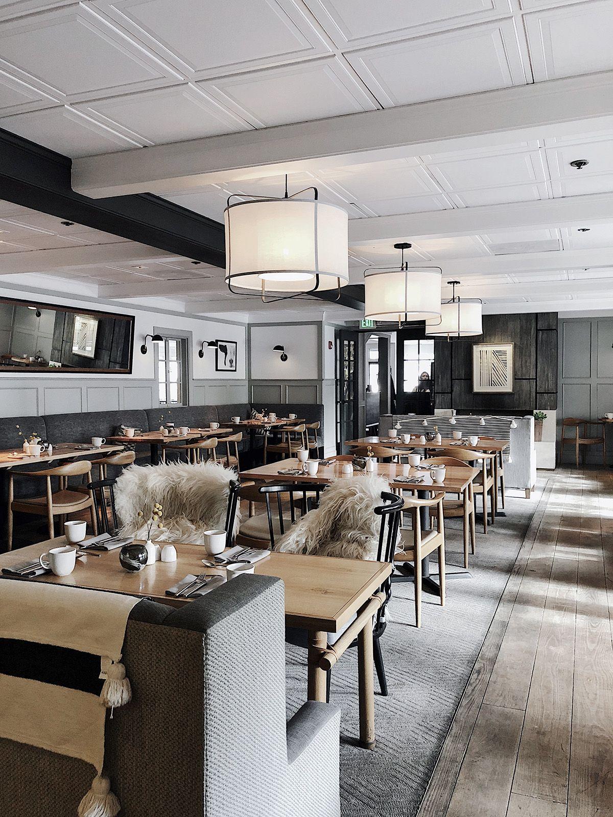 Host Restaurant Rustic Scandinavian Interior Minimalism Design Visual Reclaimed Wood Ceiling House Design Interior