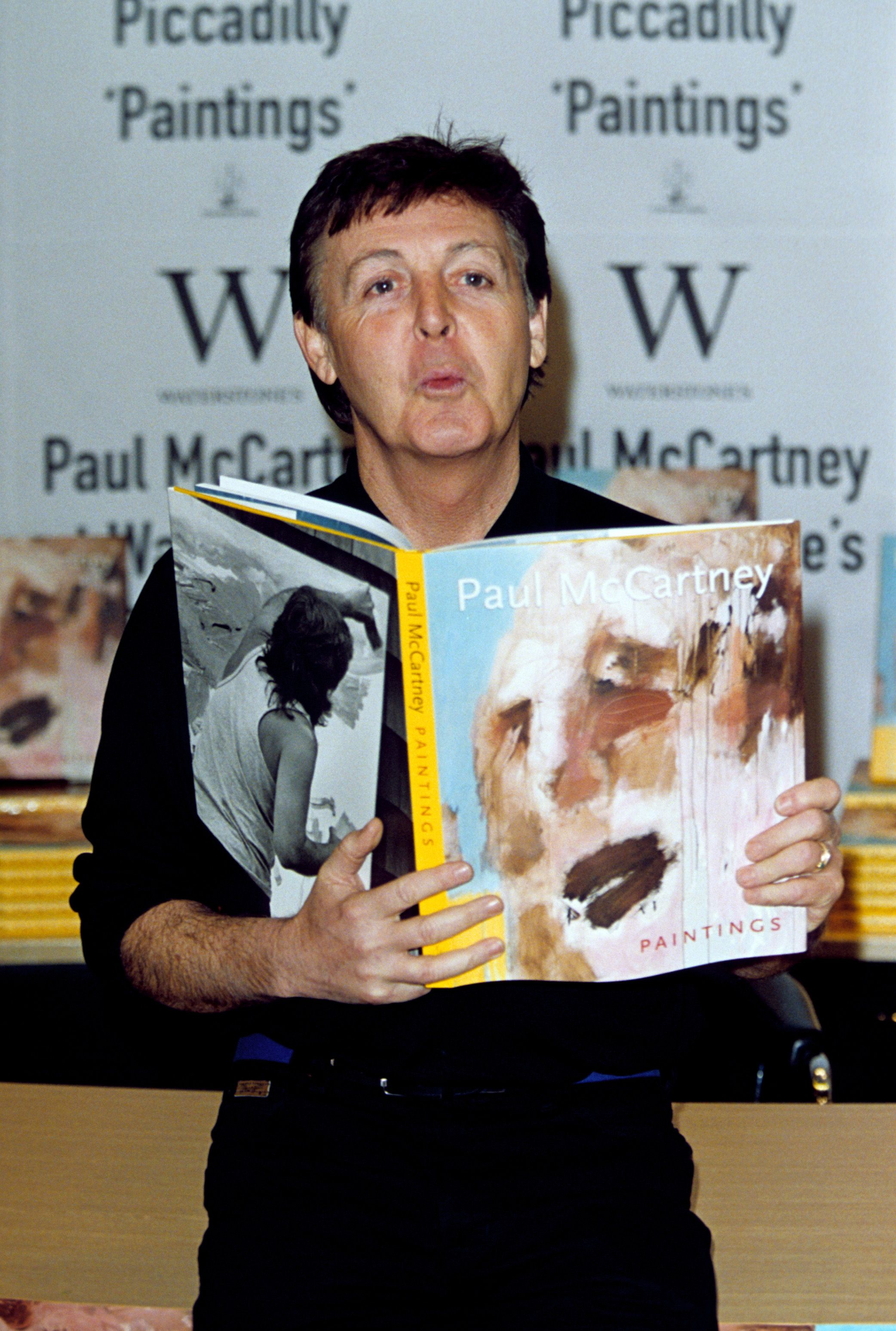 Paul McCartney Published A Collection Of His Artwork Entitled Paintings In 2000