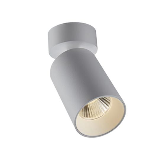 the solis spot surface mount is a slimline adjustable spotlight