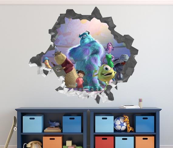 Monster Inc Wall Decal Art University
