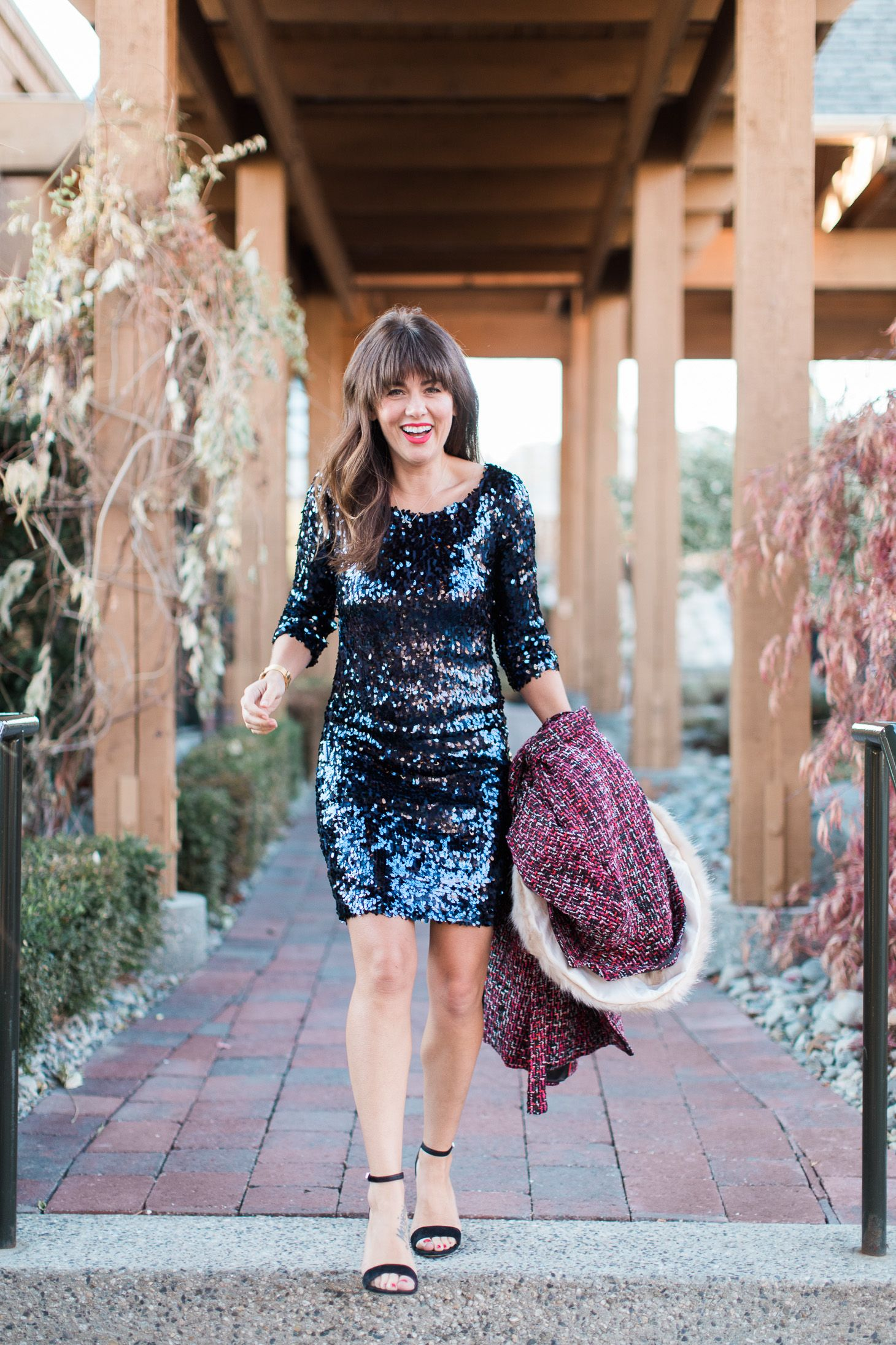 The Perfect Sequin Dress for New Year's Eve Holiday
