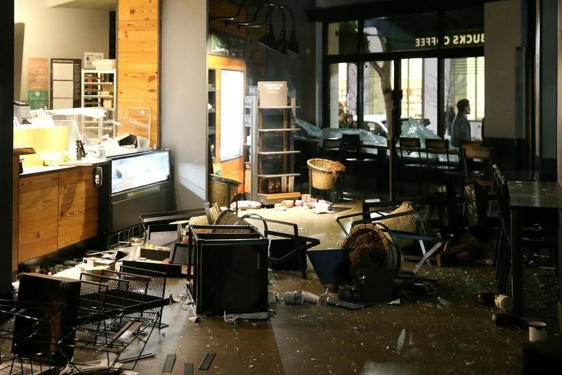 The Starbucks Across The Street From The UC Berkeley Campus After Last  Nights Riots #starbucks