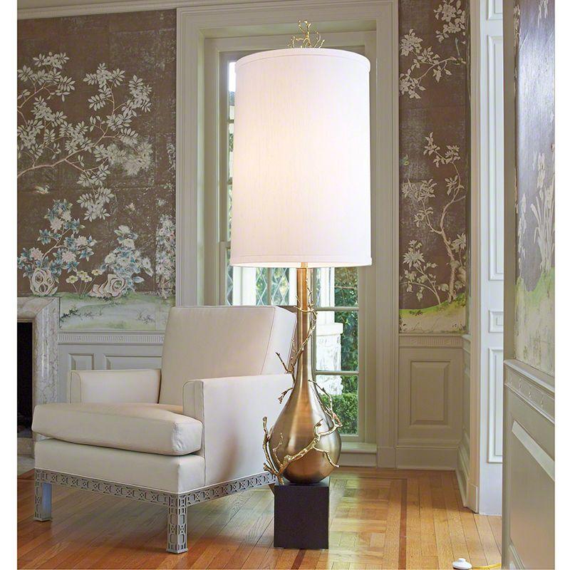 """Gold Floor Lamp from """"Unique Floor Lamps"""""""