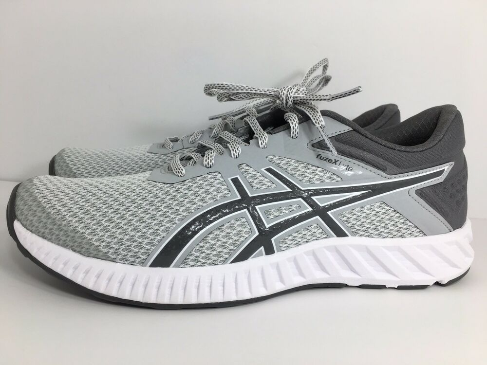 Asics T719n Mens Fuzex Lyte 2 Running Shoe Midgrey Carbon White