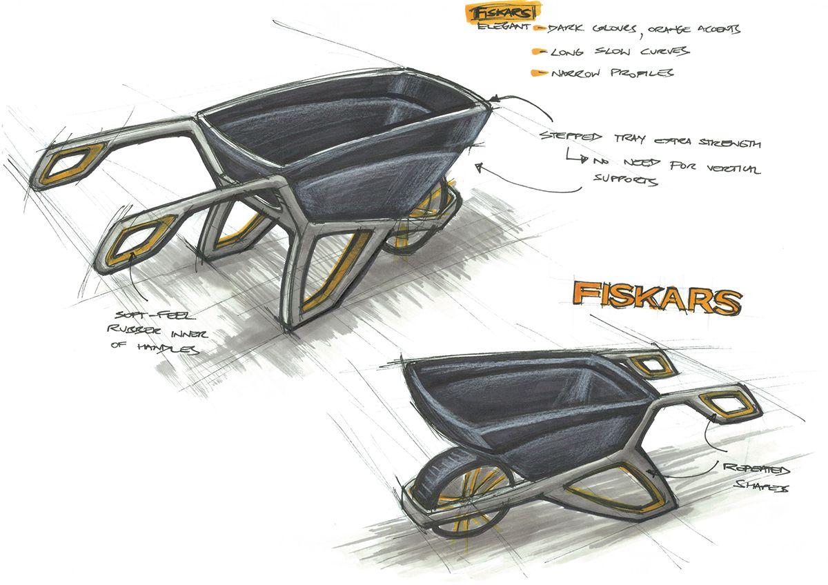 Fiskars Wheelbarrow Concept On Behance Wheelbarrow