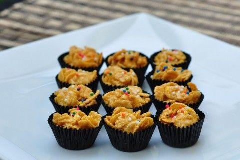 Biskut Cornflakes Madu Resep Biskuit Makanan Memanggang Kue