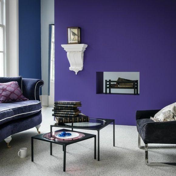 20 idées d\'ameublement salon en violet élégant | Violets and Salons