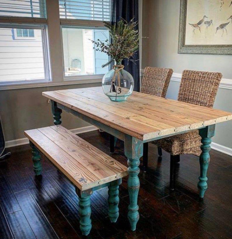 Farmhouse Table Legs 3 5 X 3 5 X 29 Set Etsy In 2020 Farmhouse Table Legs Farmhouse Table Dining Table Design