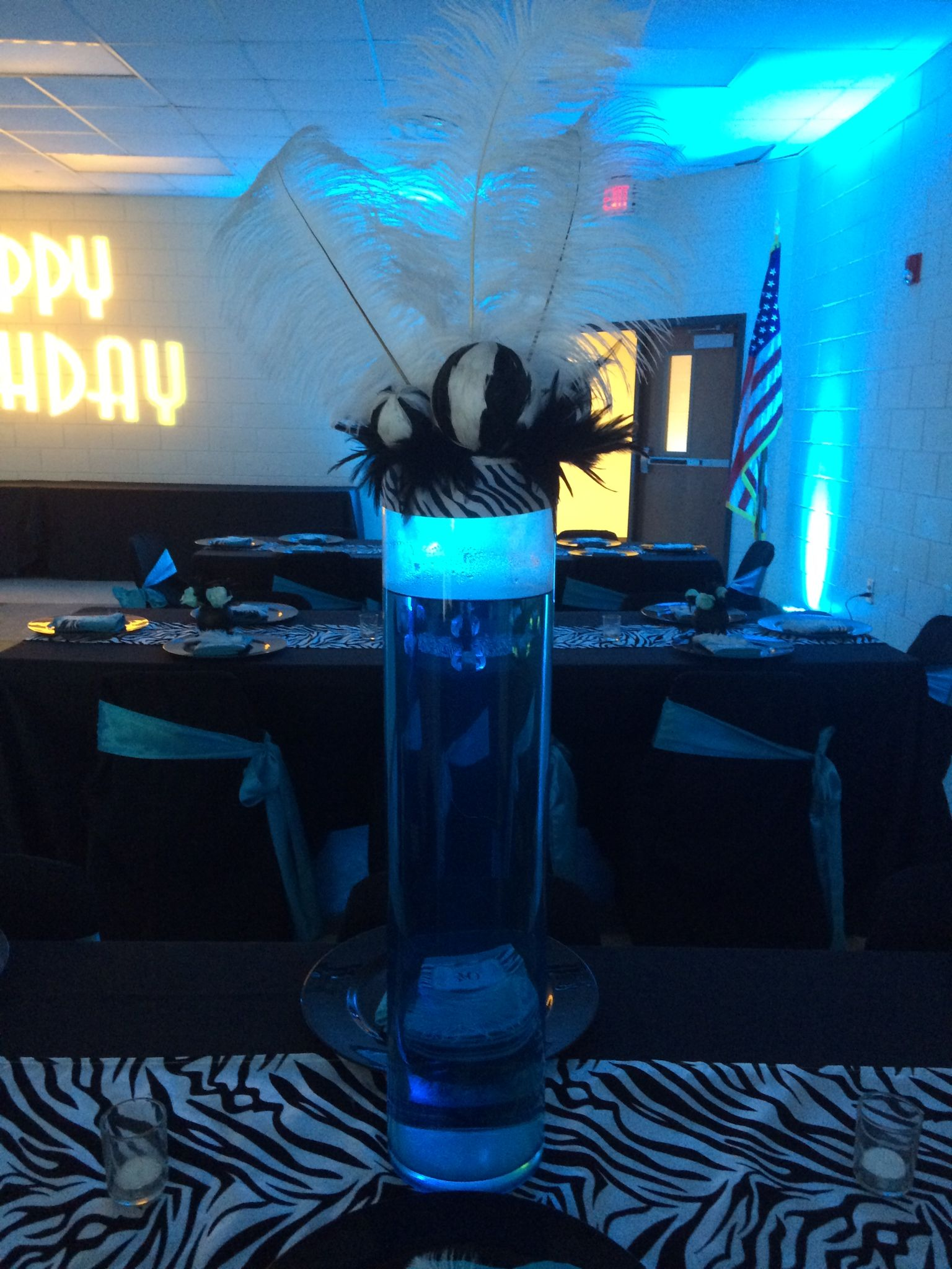 Camellia EventsMalonas 40 Fabulous BirthdayMalibu Blue and