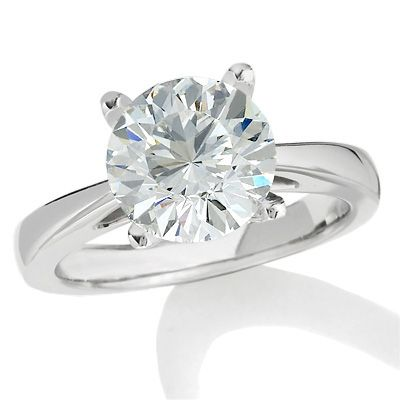 Celebration 102™ 3 CT. Diamond Solitaire Engagement Ring in 18K White Gold (I/SI2)
