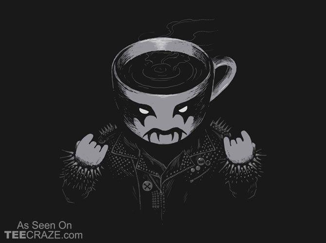 Black Metal Coffee T Shirt