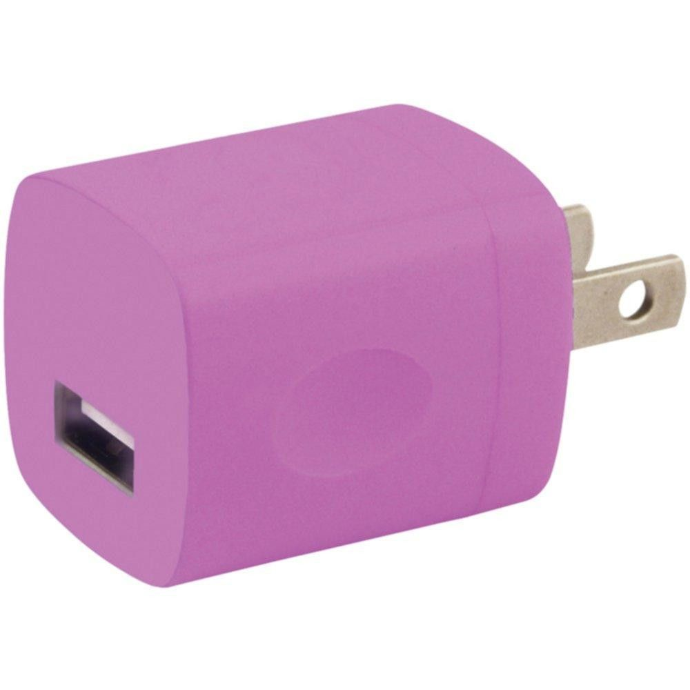 IESSENTIALS IE-ACPUSB-PK iPhone(R)-iPod(R)-Smartphone 1-Amp USB Home Charger (Pink)