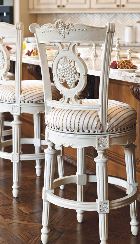 Provencal Grapes Swivel Bar And Counter Stools With Images