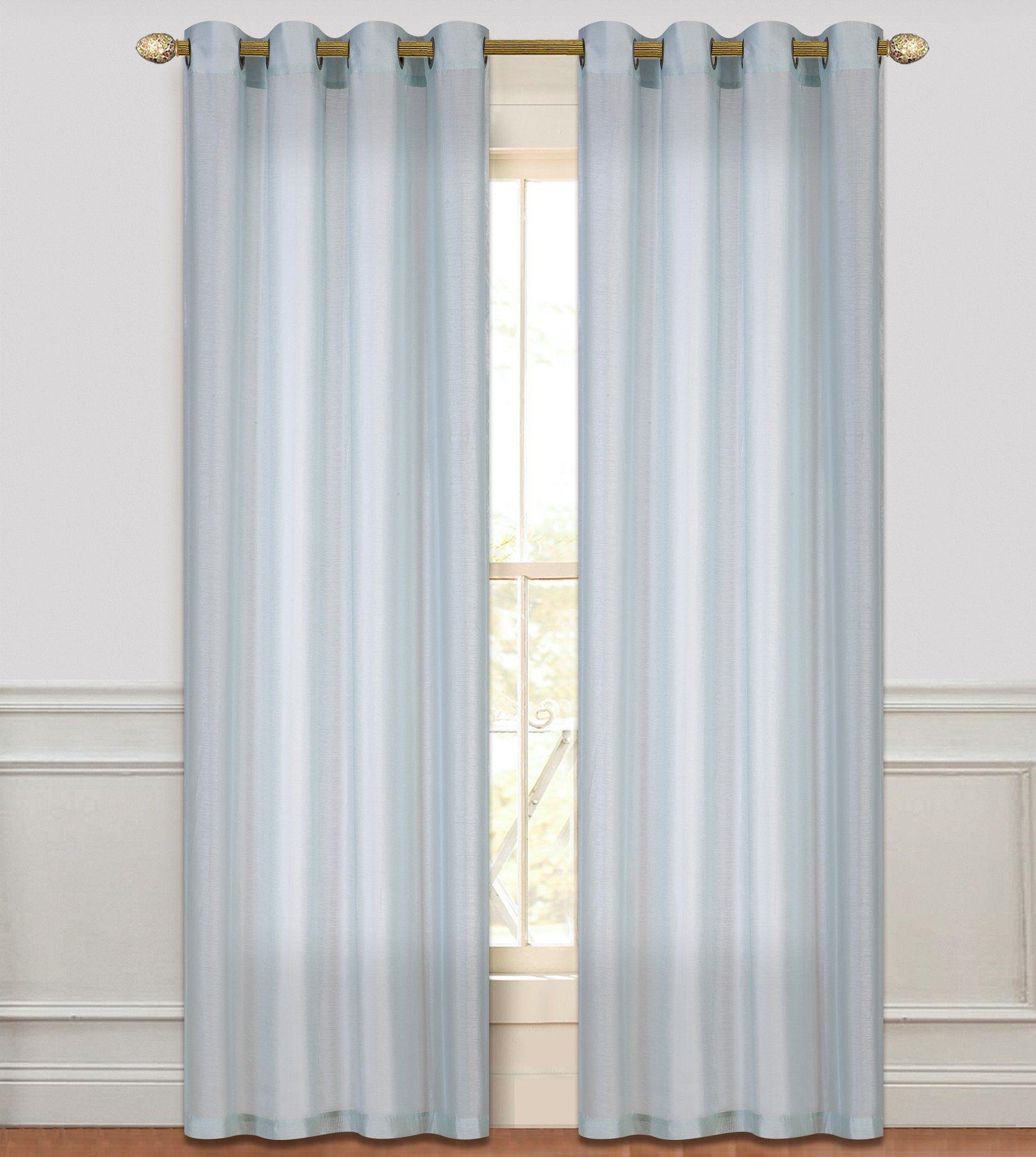 Threshold linen grommet sheer curtain panel product details page - Lara Sheer Grommet Curtain Panel Pair