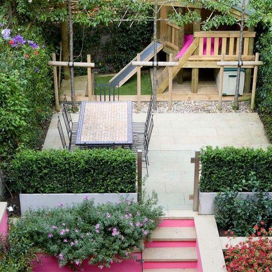 Leuke opbouw naar het kindergedeelte tuin pinterest for Garden sectioning ideas