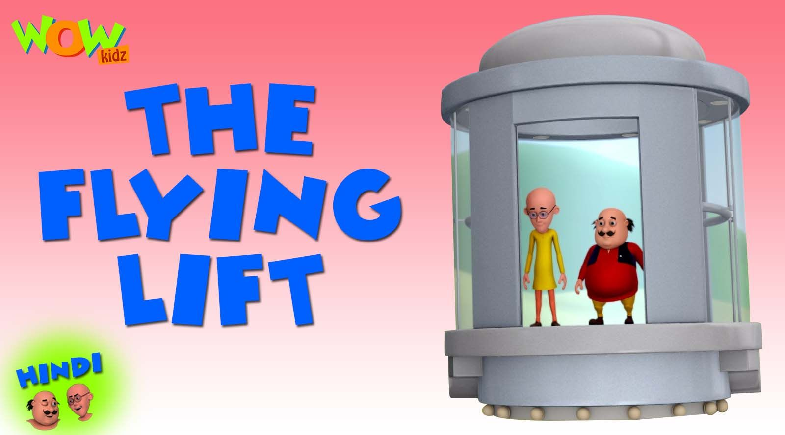 Dr Jhatka Invents A Flying Lift And Invites Motu Patlu
