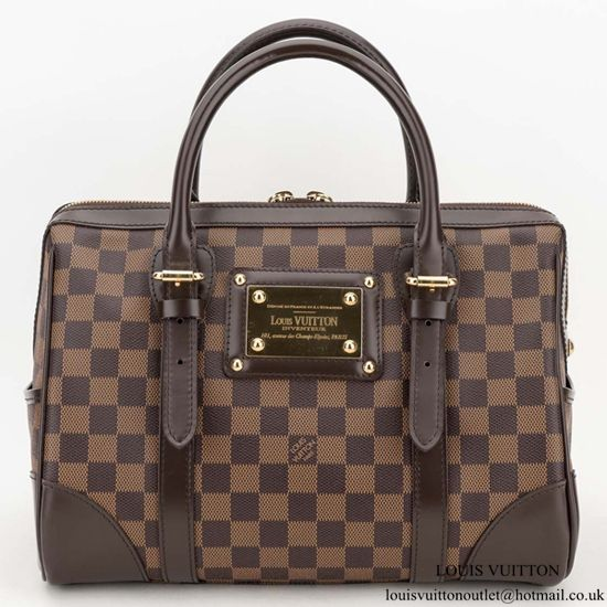 cb21e5b3a9a7 Louis Vuitton N52000 Berkeley Tote Bag Damier Ebene Canvas