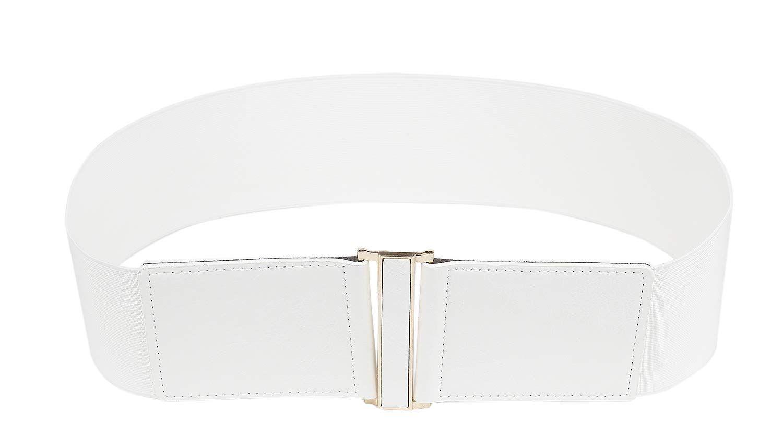 Modeway 3 Wide Stretch Elastic Cinch High Waist Belts For