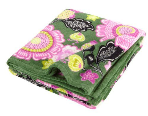 Vera Bradley Throw Blanket Olivia Pink.  Light enough to be a throw or an extra layer on the bed.