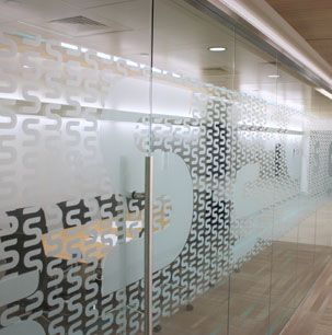 Frosted Glass Distraction Pattern On Conference Room