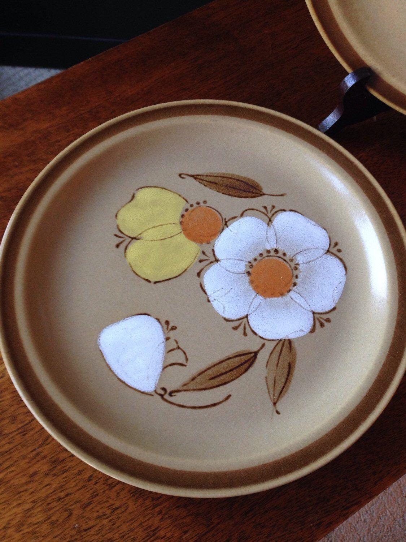 Hearthside stoneware - Dogwood - 2 dinner plates by shhhitsvintage ...