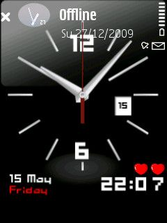 Analog Clock Theme For N Download Free Mobile Applicationthemes