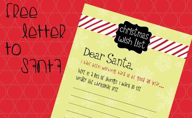 free santa letter feature