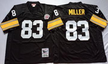 5ca5d38d5 Men 83 MILLER Jersey Football Pittsburgh Steelers Jersey