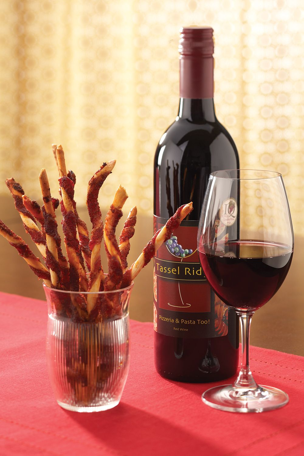Spicy Bacon Wrapped Breadsticks Powered By Ultimaterecipe Food Pairings Bacon Wrapped Sweet Wine