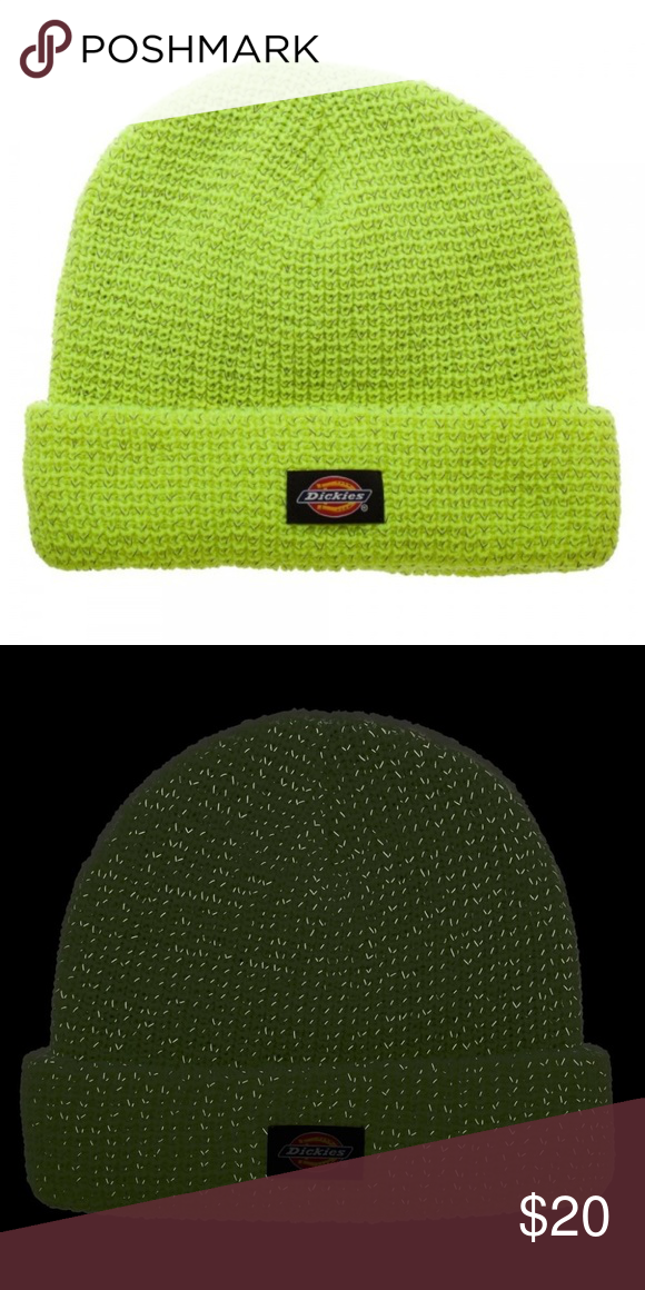 Dickies Reflective Yellow Safe Bright Beanie Hat This is for 1 Dickies  Beanie. Color  615cc692941