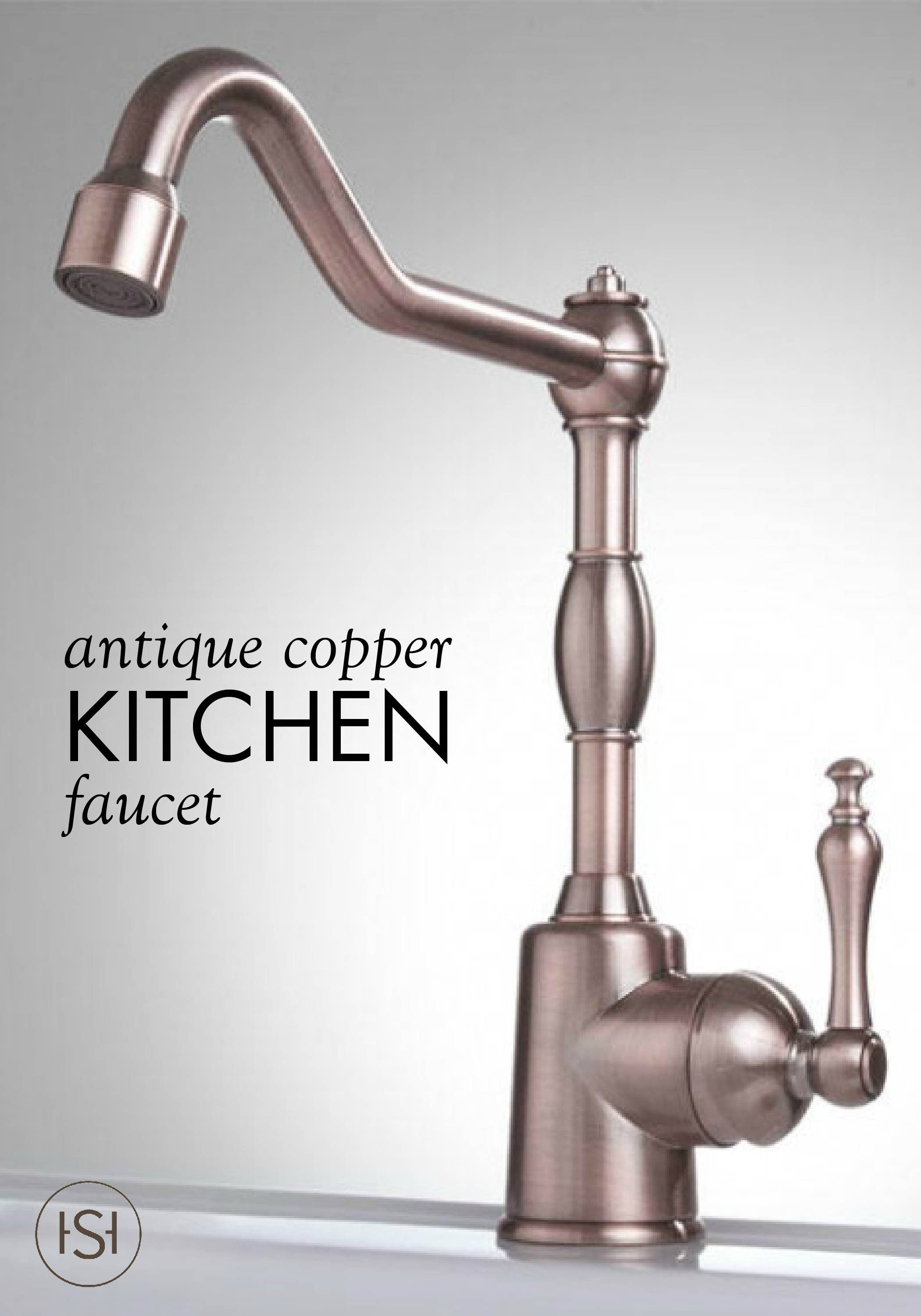 vintage style kitchen faucets countertop material ideal for a bar or sink this antique copper