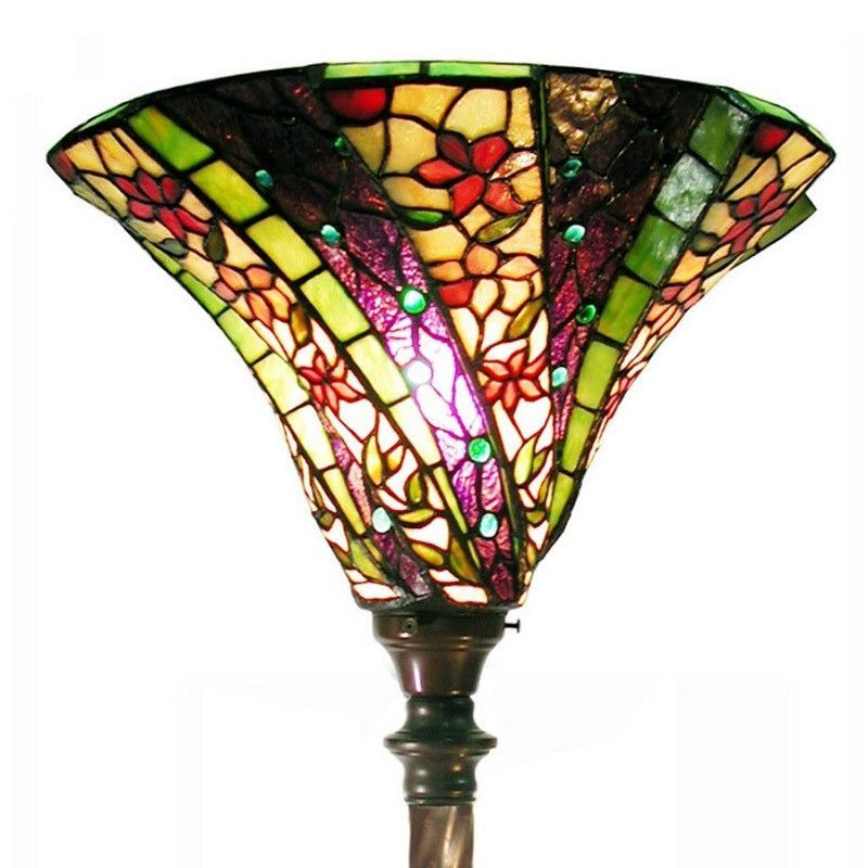 Tiffany style stained glass 3d purple wave torchiere floor lamp tiffany style stained glass 3d purple wave torchiere floor lamp 1915bb75b mozeypictures