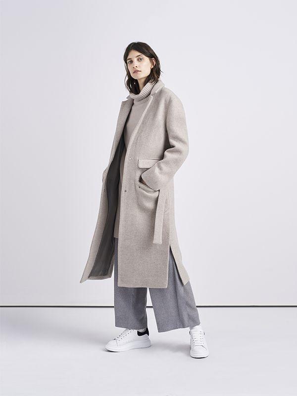 a10fda994d5 Petra is a fluid duster coat made from an Italian virgin-wool blend,  designed…