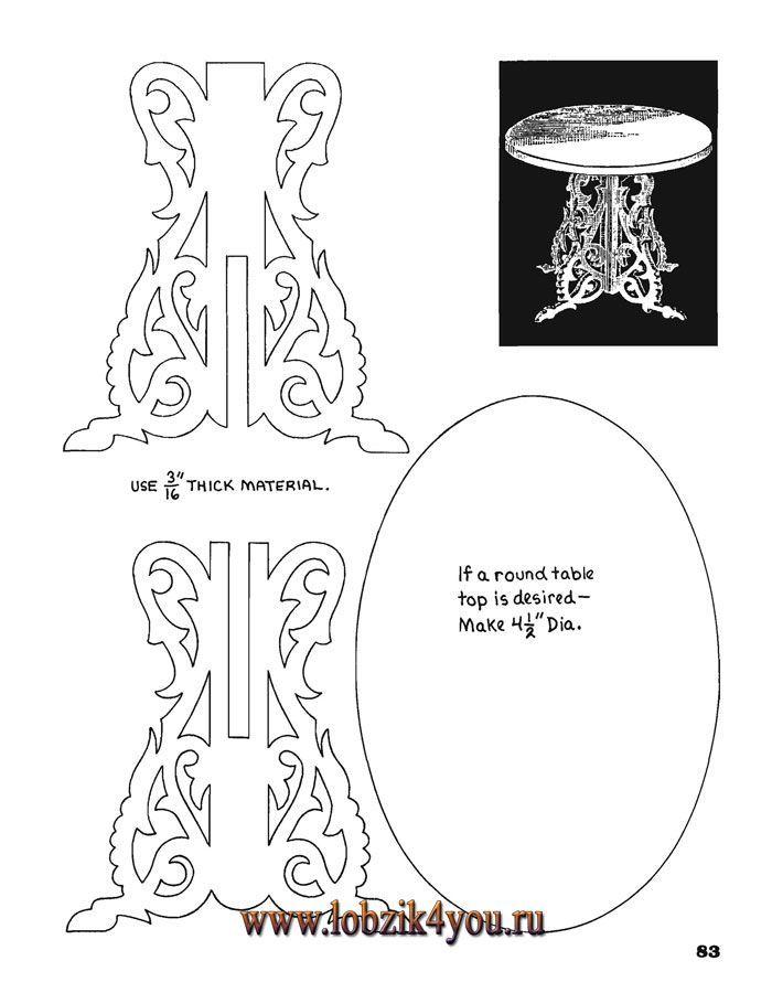 Scroll Saw Patterns American Doll Furniture