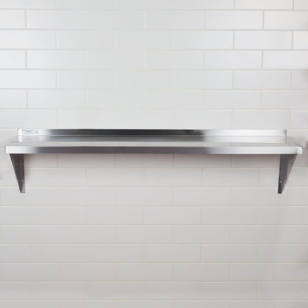 Regency 16 Gauge Stainless Steel 15 X 60 Heavy Duty Solid Wall Shelf In 2020 Stainless Steel Wall Rack Stainless Steel Kitchen Shelves Wall Shelves