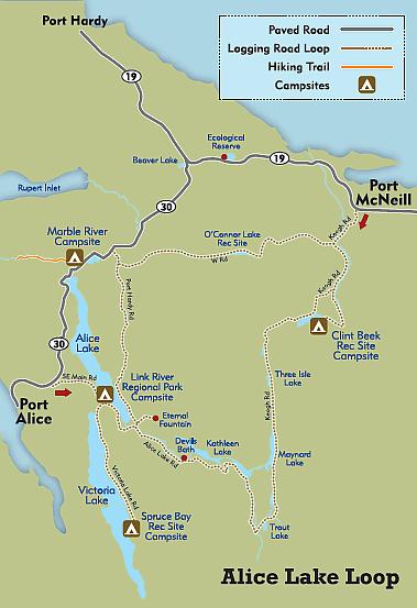 alice lake campsite map Alice Lake Loop Tour Vancouver Island Tours Alice alice lake campsite map