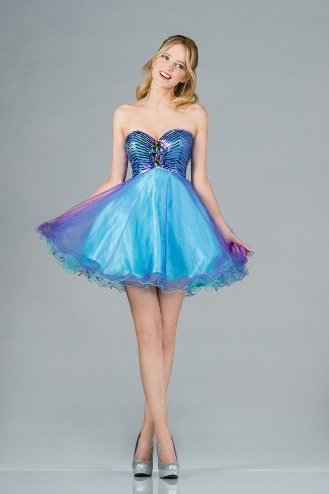 Cute Short Dresses Strapless Sweet 16