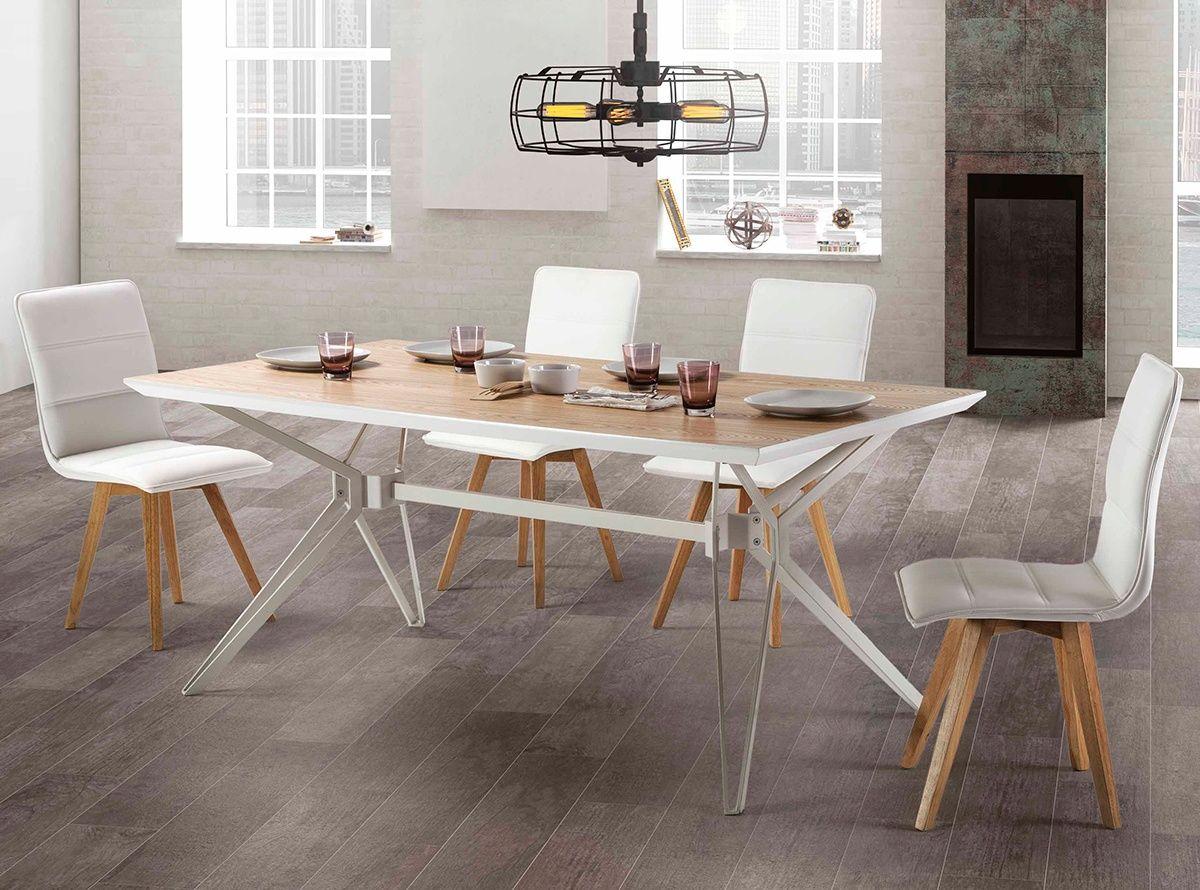 Elegante mesa de comedor de 180 cm, con una original estructura ...