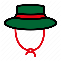 Camping Mountain Nature Panama Hat Icon Camping Outdoors Adventure Icon