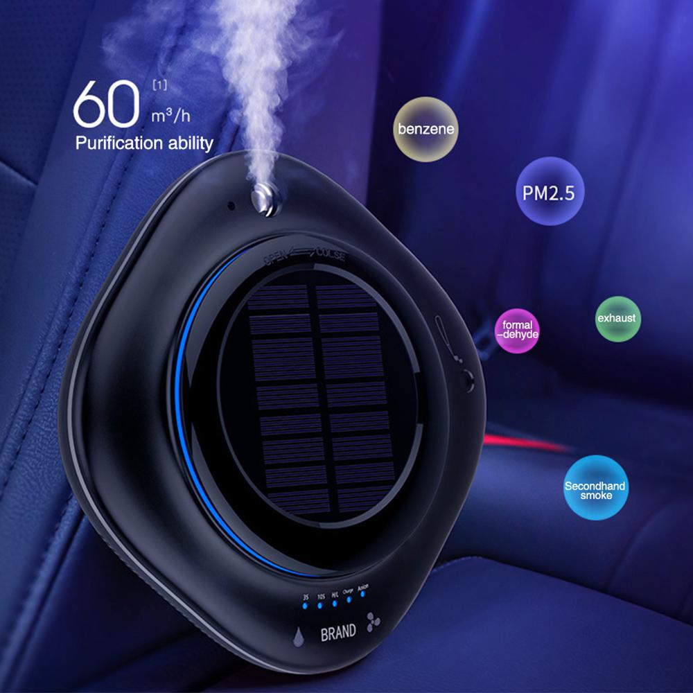 Solar Wireless USB Vehicle Air Purifier Car Humidifier
