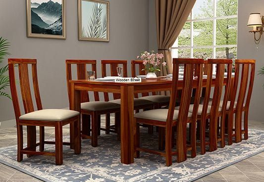 Volpel 8 Seater Dining Set 8 Seater Dining Table Buy Dining Table Dining Table Design 8 chairs dining room set